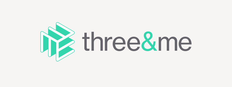 Logo design for graphic design agency Three&me in Ipswich, Suffolk.