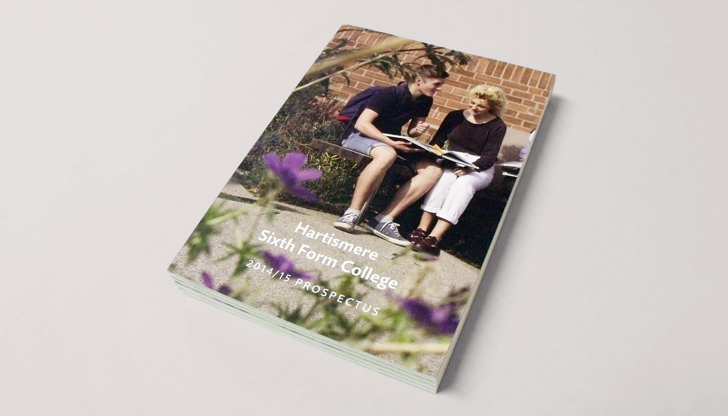 2014 Prospectus design and print for Hartismere Sixth Form College in Eye, Suffolk.