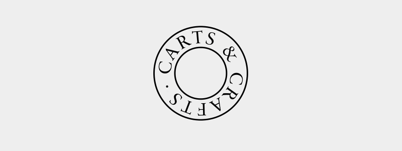 Bespoke logo design for Carts & Crafts in Harwich, Essex.