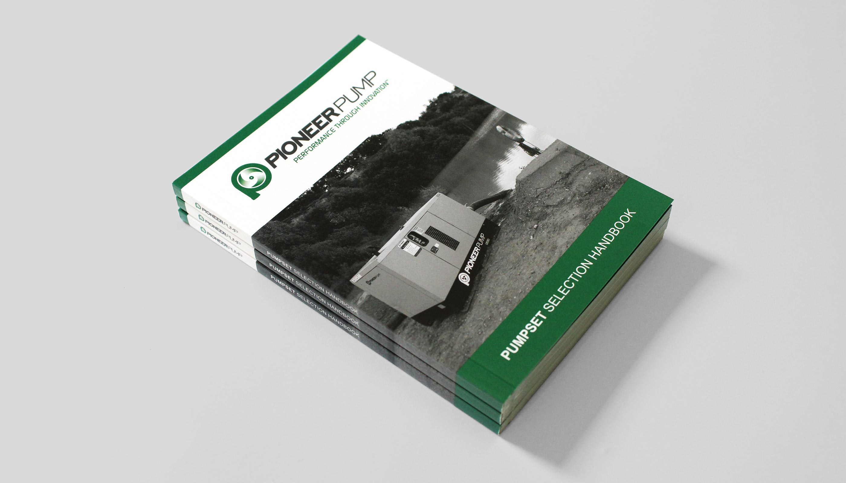 Product handbook front cover for Pioneer Pump in Suffolk, UK.