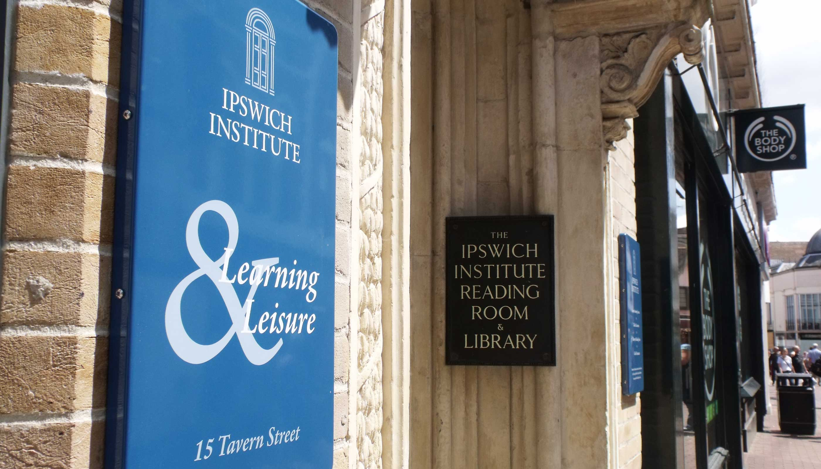 Signage design and production for Ipswich Institute.