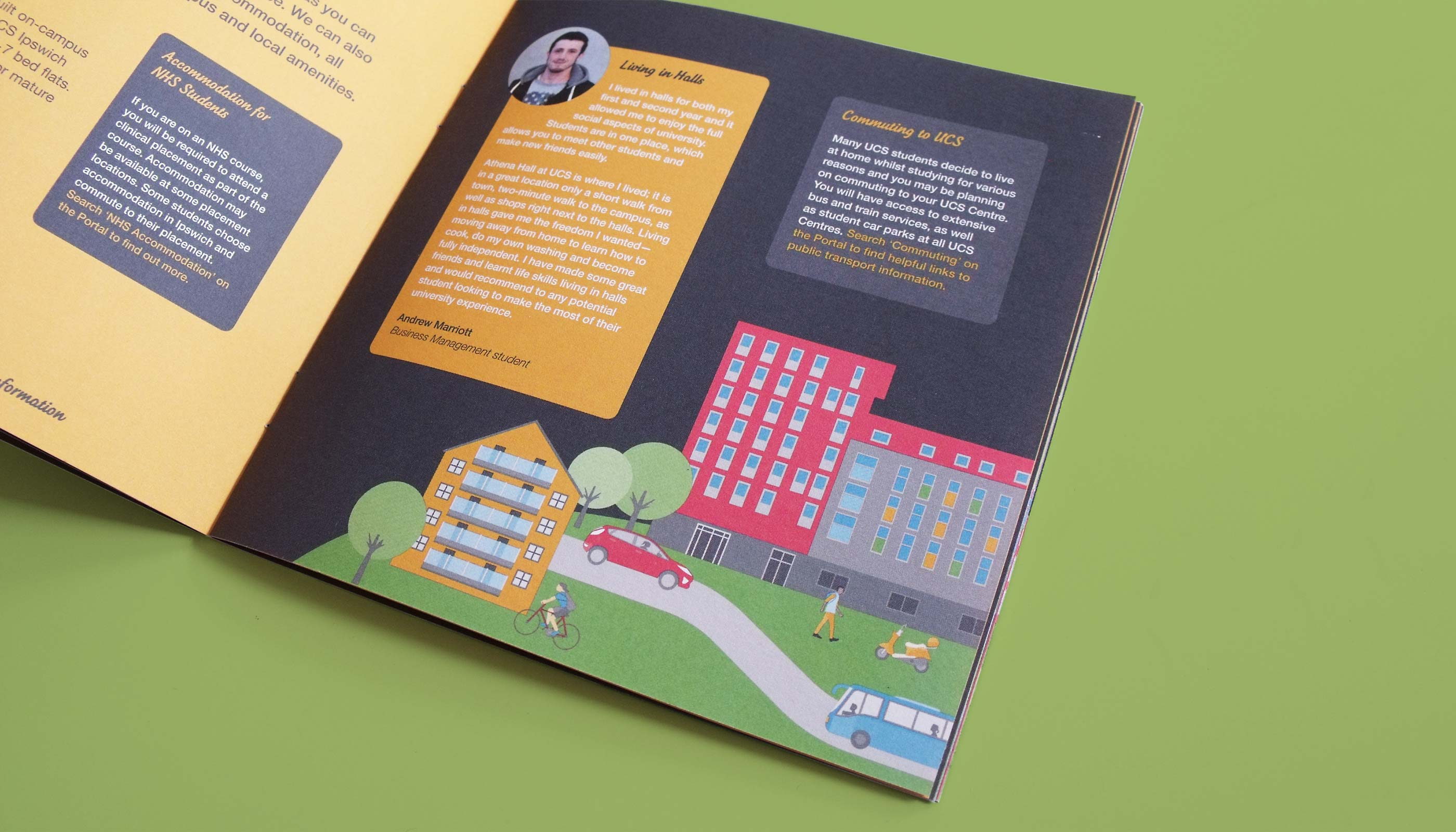 Brochure design and print for University Campus Suffolk.