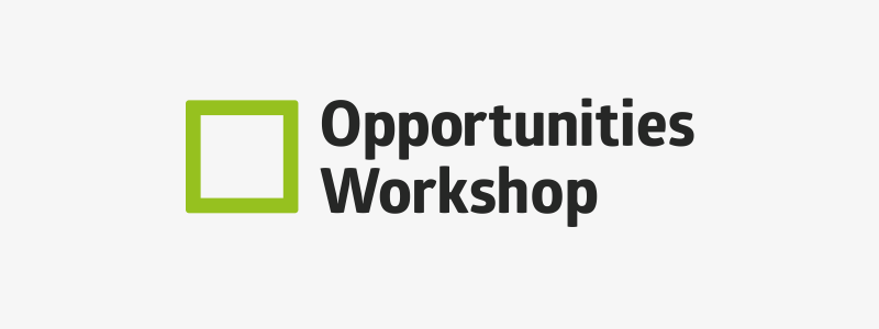 Logo design for Opportunities Workshop in Ipswich, Suffolk.