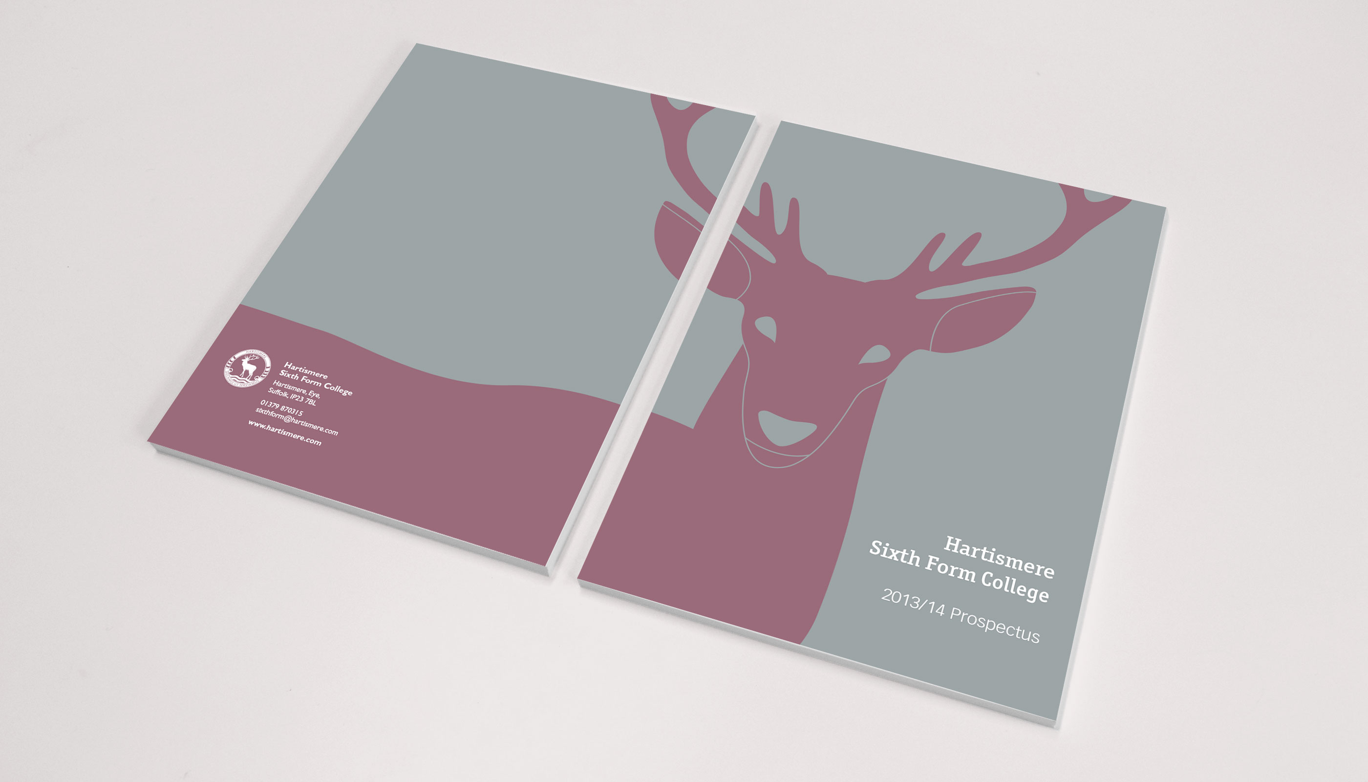 Prospectus design and print for Hartismere Sixth Form College in Eye, Suffolk.