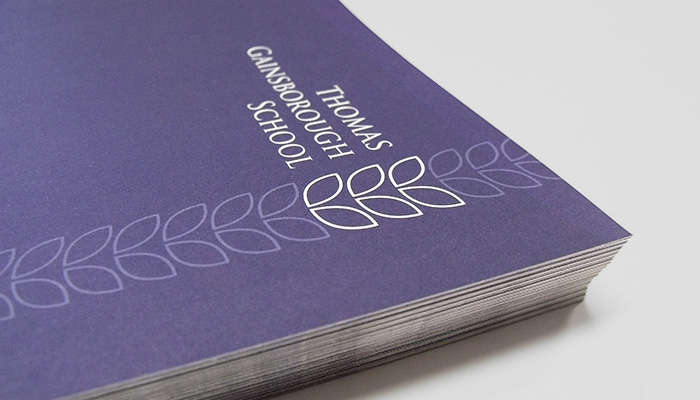 Prospectus design and print for Thomas Gainsborough School in Sudbury, Suffolk.