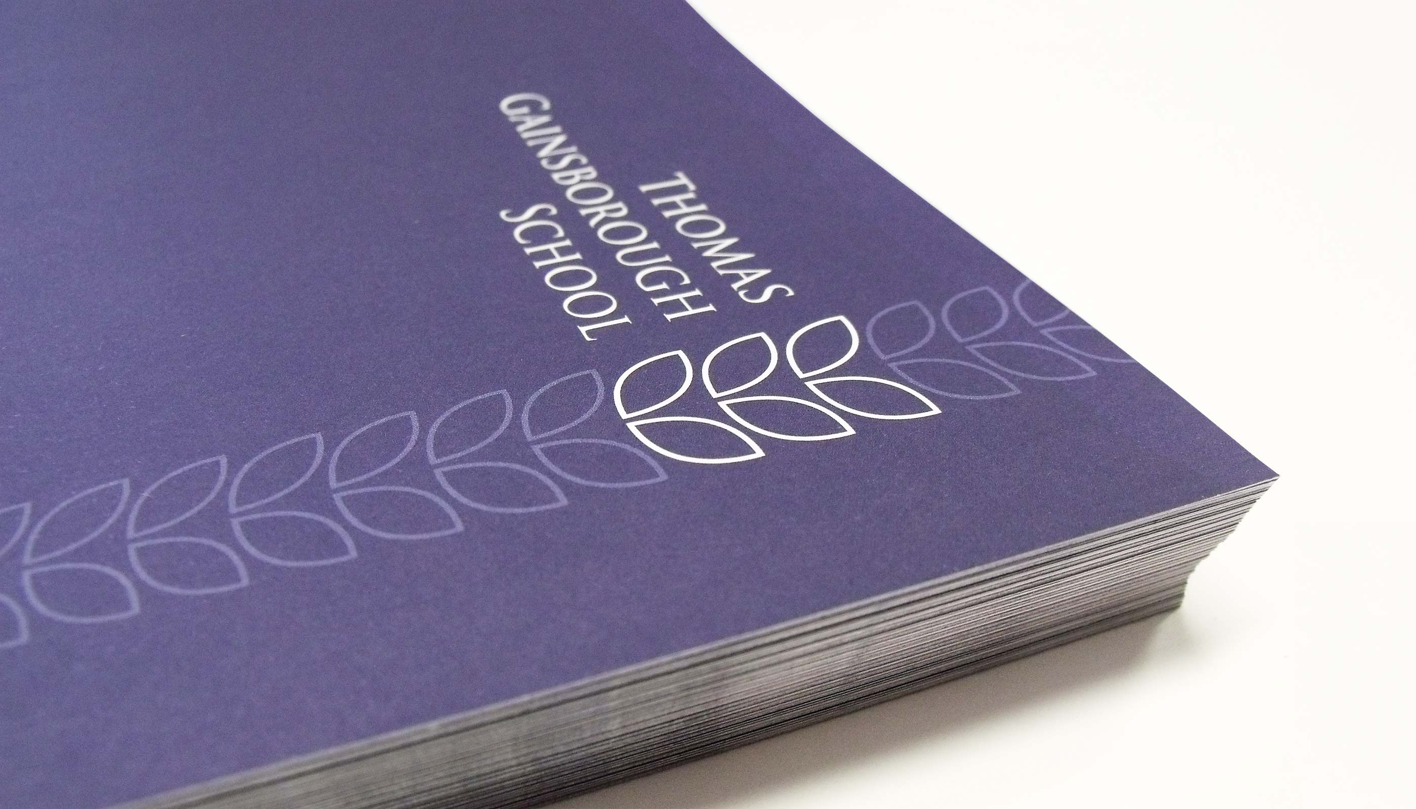 School prospectus design created for Thomas Gainsborough School in Sudbury, Suffolk.