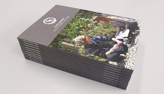 2015 Prospectus design and print for Hartismere Sixth Form College in Eye, Suffolk.