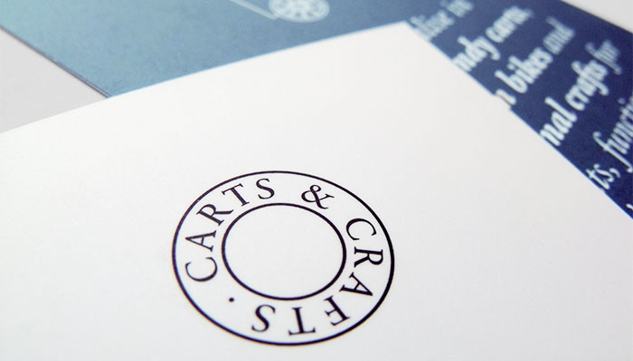 Business card design and print for Carts & Crafts in Harwich, Essex.