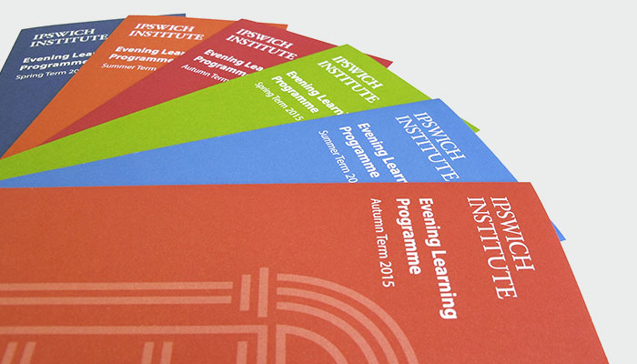 Various leaflets design and print for Ipswich Institute.