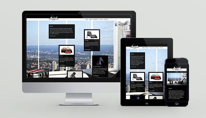 Website design for luxury goods retailer Oakley Design London.