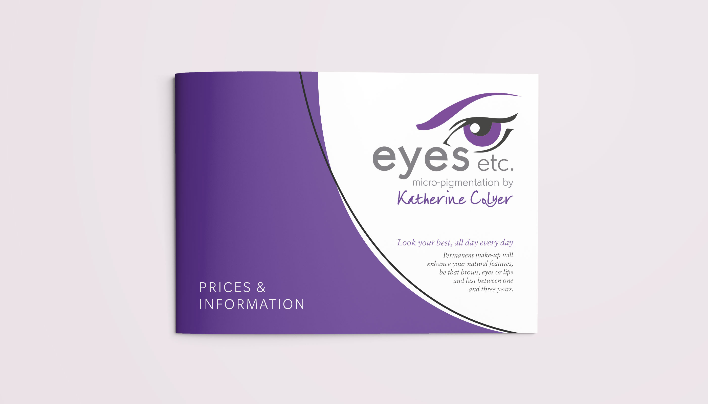 Brochure design & print cover for Eyes Etc in Colchester, Essex.