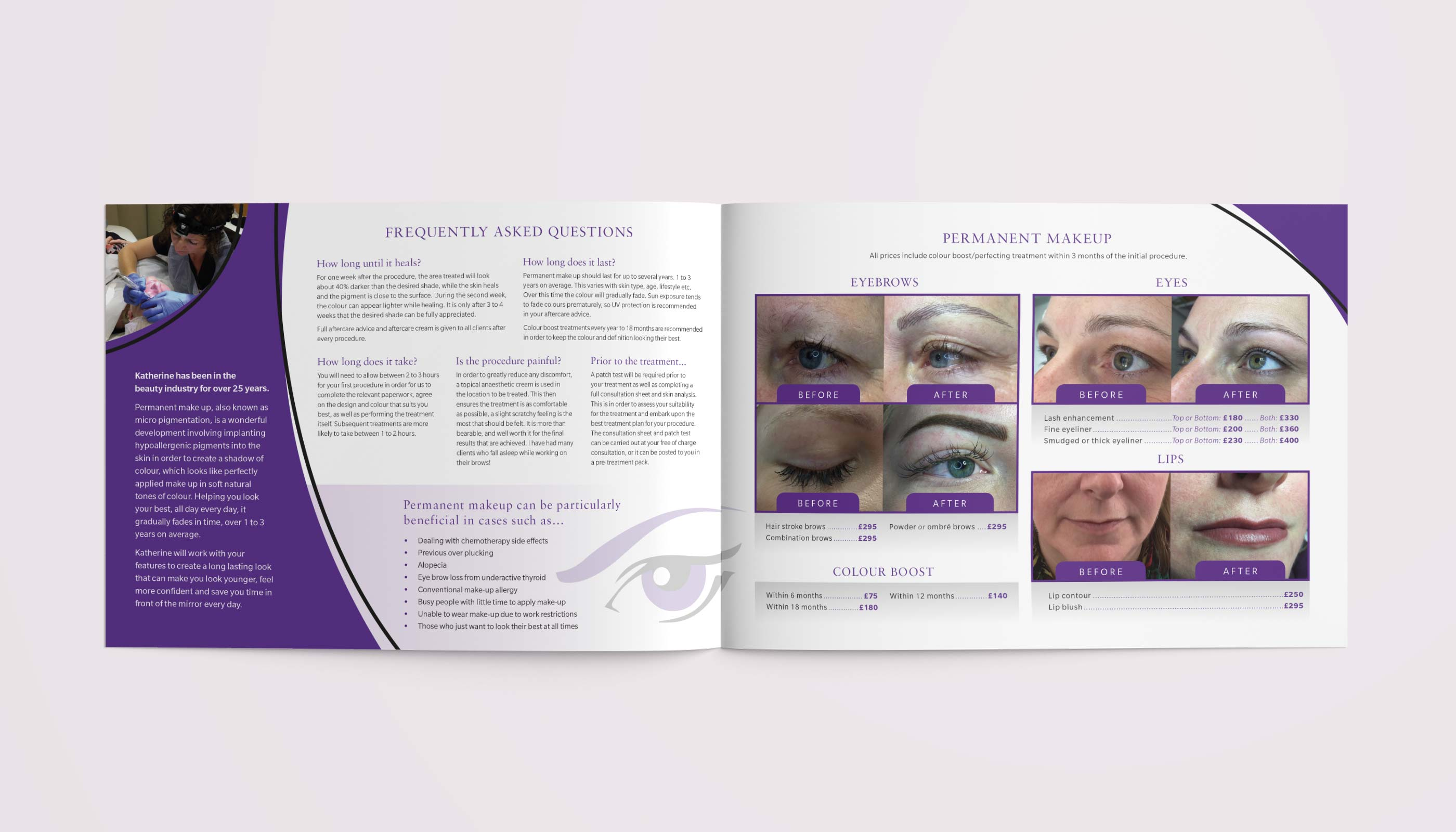 Brochure design & print for Eyes Etc in Colchester, Essex.
