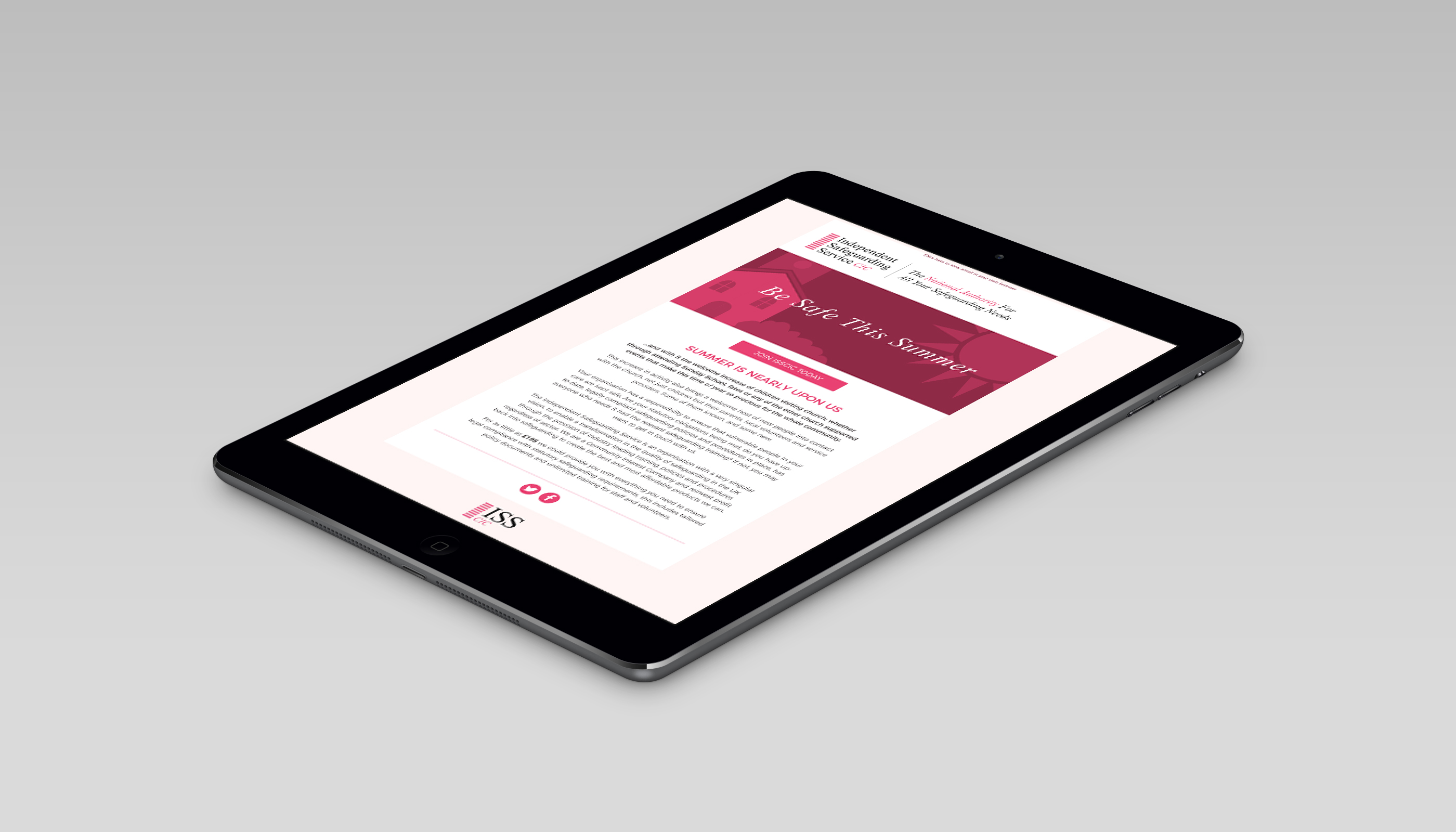 Email template design for Independent Safeguarding Service CIC, in London.