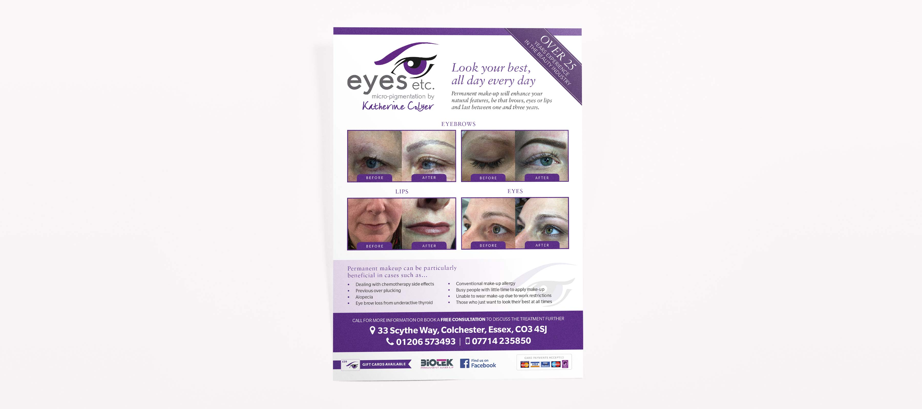 Poster design & print for Eyes Etc in Colchester, Essex.